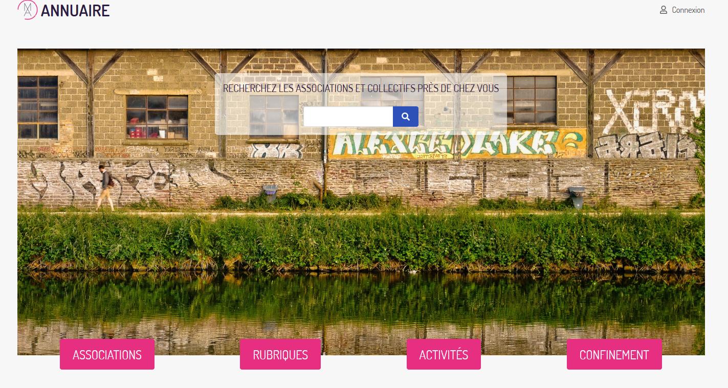 Impression d'écran de l'annuaire sur le site internet de la MDA