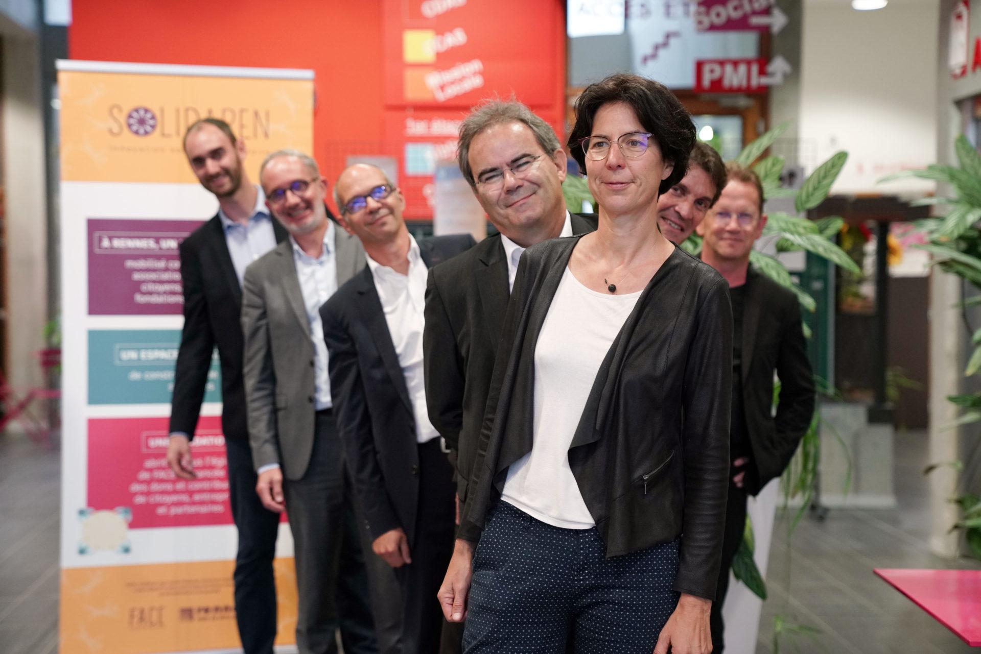 Portrait debout en enfilade des membres du comité exécutif SolidaRen